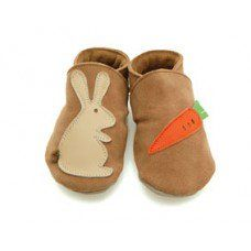 Rabbit & Carrot Sand Soft Leather Baby Shoes Made and supplied by Star Child Shoes in #Leicestershire - £18.00