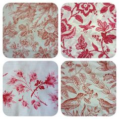 Toile fabrics. My absolute favorite type!