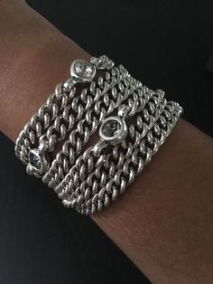 Uno De 50 Metal Bracelet With Swarovski Crystals - Under the sea - PUL1400 in Jewellery & Watches, Costume Jewellery, Bracelets | eBay