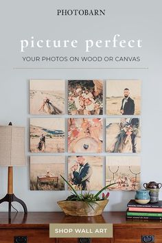 Enjoy your photos on wood or Canvas. Photo On Wood, Photo Wall, Interior Design Living Room, Living Room Decor, Photo Arrangement, Hanging Canvas, Hanging Pictures, Wall Art Designs, Photo Displays