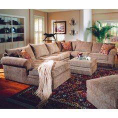corduroy sectional homey/cozy ... Perfect for family movie night