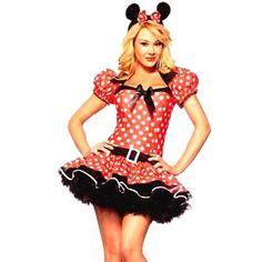 Forever Young - Damen Minnie Maus-Kostüm - Größe 40