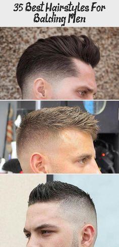 Messy Faux Hawk Haircut For Balding Men - Best Haircuts and Hairstyles For Baldi...,  #Baldi #balding #Faux #Haircut #Haircuts #hairstyles #Hairstylesformenbalding #Hawk #Men #messy