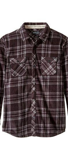 O'Neill Kids Glacier Plaid Long Sleeve Shirt (Big Kids) (Asphalt) Boy's Long Sleeve Button Up - O'Neill Kids, Glacier Plaid Long Sleeve Shirt (Big Kids), FA6204009-BLU, Apparel Top Long Sleeve Button Up, Long Sleeve Button Up, Top, Apparel, Clothes Clothing, Gift, - Street Fashion And Style Ideas