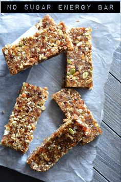 NoBake Date Energy Bar Healthy Vegan And Gluten Free is part of Energy bars healthy - These nobake date energy bar are loaded with natural ingredients like dates, walnut, almonds, and nuts like pumpkin seeds and sunflower seeds Healthy Bars, Healthy Vegan Snacks, Healthy Recipes, Homemade Protein Bars, Healthy Granola Bars, Vegan Protein Bars, Paleo Vegan, Healthy Breakfasts, Protein Snacks
