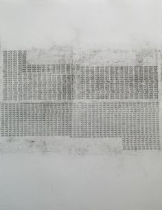 Lea Asja Pagenkemper Typodrawing yes-no 2013, charcoal on paper, handprinted