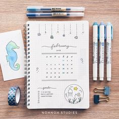 """I know it's a little early but I've been wanting to do an ocean  spread since I started my January """"plants"""" themed. Also got some requests…"""