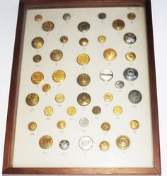 43 Vintage Buttons, Collectible Trains, Trainman, Railways, Transportation