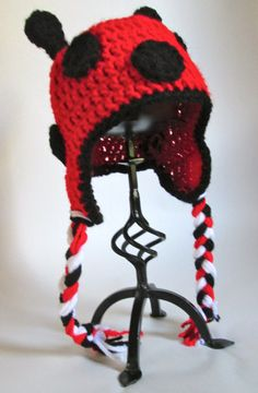 Baby Crochet Ladybug Hat Made to Order by ElleYarnCreations, $18.00