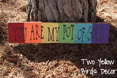 {You are My Pot of Gold} St. St Patrick's Day Crafts, Crafts To Make, Diy Crafts, St Pattys, St Patricks Day, Painted Pavers, Wood Vinyl, Paddys Day, Pot Of Gold