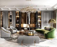Glamour Living Room, Interior Design Living Room, Living Room Designs, Living Room On A Budget, Luxury Interior Design, Luxury Home Decor, Interior Ideas, Interior Styling, Home Room Design