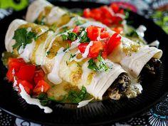 Portobello Mushroom & Chicken Enchiladas recipe