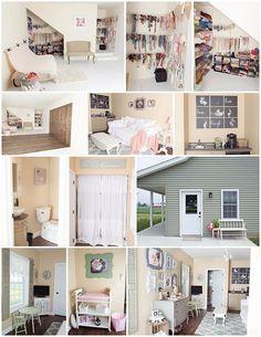 Andrea Kinter photography studio PERFECT for a garage remodel! Studio Setup, Studio Design, Studio Ideas, Studio Tours, Garage Studio, Set Design, Design Ideas, Small Photography Studio, Photography Studios
