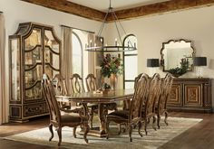 Marge Carson Room Scenes | Marge Carson Dining Room Sets, Dining Room Design, Dining Room Furniture, Dining Table, Kitchen Design, Georgian Furniture, Italian Furniture, Luxury Furniture, Beautiful Dining Rooms