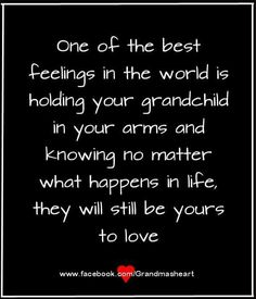 I just love holding my Grandbabies in my arms. I adore them both sooo much. ❤❤