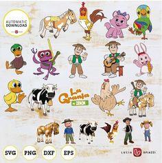 Preschool Spanish, Kids Party Themes, Farm Birthday, Paw Patrol, Farm Animals, 1, Clip Art, Baby Shower, Digital