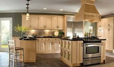 Natural maple cabinets with wall color - alternative to white/espresso??http://interiordesign4.com/terrific-kitchen-wall-de -- 6