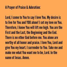 A #prayer of #praise and #adoration.