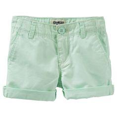Neon Twill Shorts