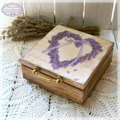 Forget Me Not Box for jewelry Heart Forget  MeNot by Alenahandmade, $55.00