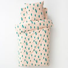 La Redoute Interieurs Cactus Printed Duvet Cover Pink Size Single X Cheap Bed Linen, Cheap Bed Sheets, Cactus Rose, Toy Story Nursery, Nursery Bedding Sets Girl, Baby Bedroom, Where To Buy Bedding, Cactus Print, Bed Duvet Covers