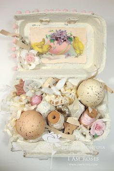 Shabby Chic Easter Egg Boxes
