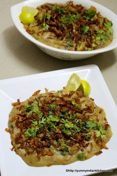 Hyderabadi Haleem Recipe is an authentic and traditional Ramadan special delicacy served as an evening meal during iftar after fasting for the whole day. Lentil Recipes, Lamb Recipes, Tofu Recipes, Healthy Recipes, Chicken Recipes, Halal Recipes, Indian Food Recipes, Cooking Recipes, Indian Foods