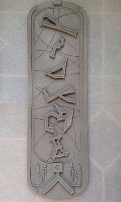 Want! Stargate Cartouche  Stone Textured 5.5x18 Wall by derrickkendall, $92.00