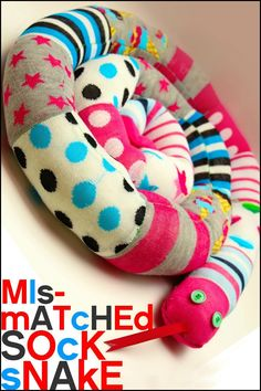 Make Use of Mismatched Socks by Making a Cute Sock Snake!
