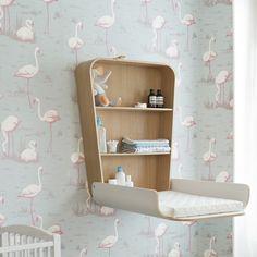 Wand-Wickeltisch Noga - Weiss - Charlie Crane - Babyartikel | MyLittleRoom
