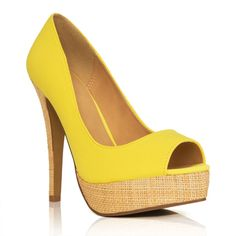 I want these!  Love the yellow!