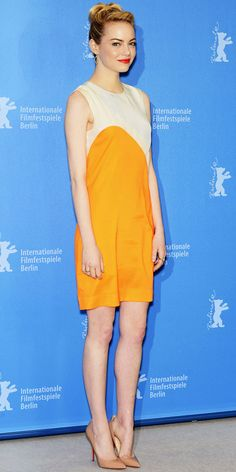 """Emma Stone in Stella McCartney for the """"The Croods"""" photocall (2013 Berlin Film Festival)"""