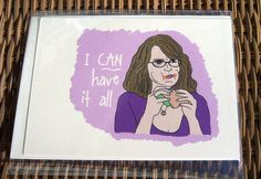 30 Rock Liz Lemon Card by sweetgeek on Etsy, $3.50