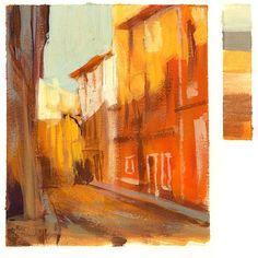 """Mais um estudo de cores com guache inspirado no livro """"Inside&Out"""" do Kevin Macpherson. #guache #pinturarelampago #painting"""