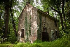 Abandoned house in the woods by frederiktogsverd, via Flickr: Fonthill Mansion, Doylestown, PA