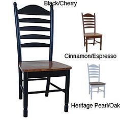 @Overstock - Dine in comfort while adding style to your home with a pair of beautiful solid wood chairsTall ladderback chairs feature box seat constructionSold as a set of two (2) dining chairshttp://www.overstock.com/Home-Garden/Solid-Wood-Tall-Ladderback-Chairs-Set-of-2/4392943/product.html?CID=214117 $192.99