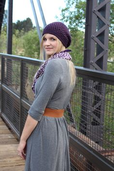 Out and About dress. Knit perfect for cooler spring nights.