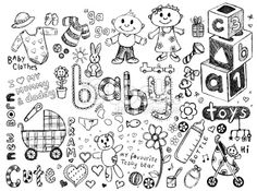 Baby doodles Royalty Free Stock Vector Art Illustration