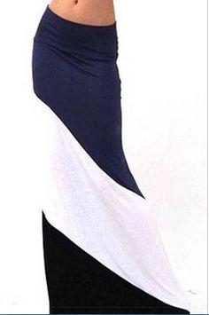 Sweet Sailor Maxi Skirt $24