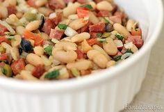 Salada de Feijão Branco ~ <3PANELATERAPIA - Blog de Culinária, Gastronomia e Receitas