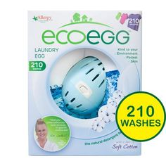 Ecoegg Laundry Egg 210 Wash Soft Cotton http://www.ocado.com