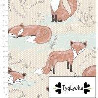 TYGLYCKA - foxes / TRICOT restje