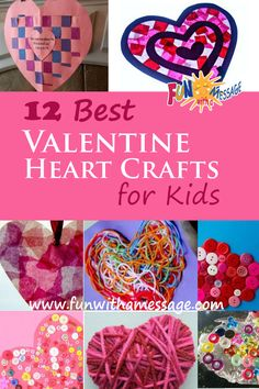 Cute and easy Valentine's Crafts for kids- A round-up by Fun With A Message