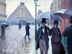 Paris Street In Rainy Weather by Gustave Caillebotte - Oil Painting Reproduction - BrushWiz.com
