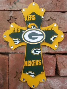 Green Bay Packers Wooden Cross by Lmorales52 on Etsy, $35.00