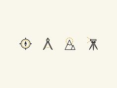 In progress icons for a Land Surveying company