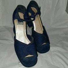 Denim platform Denim platform Mixed Blues Shoes Platforms