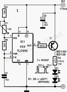 Automatic Water Pump Controller Circuit Diagram Using 555 IC ...