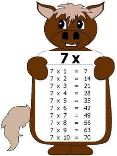 Ficha tabla multiplicar del 7 burro