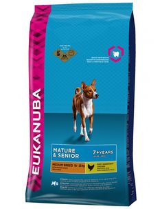 Eukanuba Mature & Senior Medium Breed 15 kg Dry Dog Food, Dog Food Recipes, Pet Supplies, Medium, Dogs, Dog, Pet Dogs, Dog Recipes, Pet Products